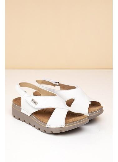 Pierre Cardin Sandalet Beyaz